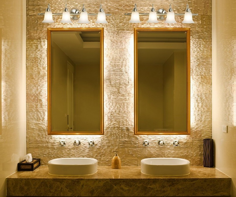 Salle de bain comment choisir le bon clairage - Miroir articule salle de bain ...