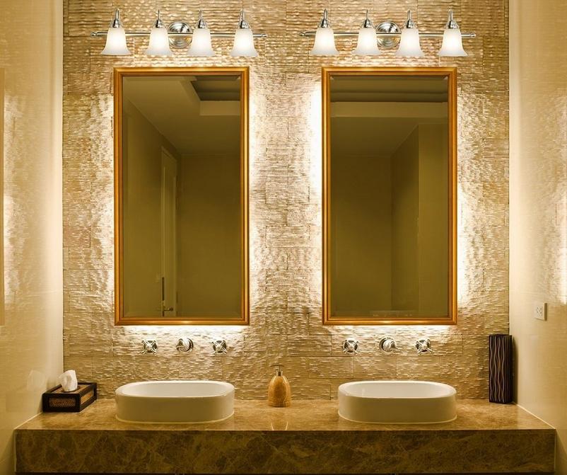 Salle de bain comment choisir le bon clairage - Installer miroir salle de bain ...
