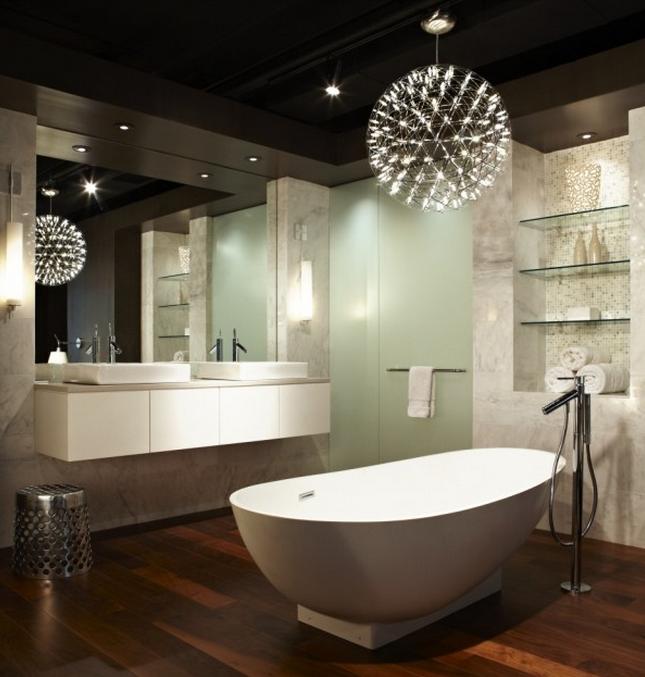 Salle de bain comment choisir le bon clairage - Salle de bain lumiere ...