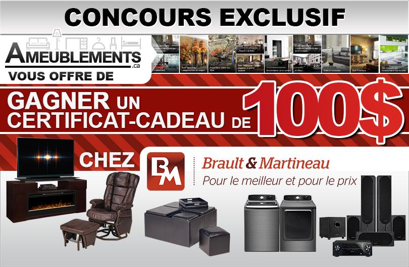 Concours Exclusif - Gagnez un Chèque-Cadeau Brault et Martineau de 100$