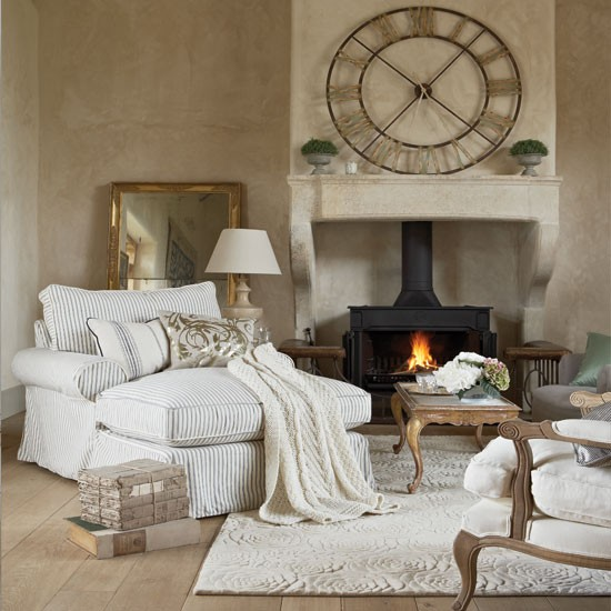 Un salon sans canapé... Et pourquoi pas? SOURCE : http://www.housetohome.co.uk