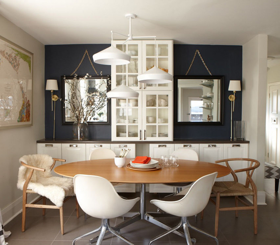 Comment meubler am nager et d corer de petits espaces for Decorating ideas for large dining room wall