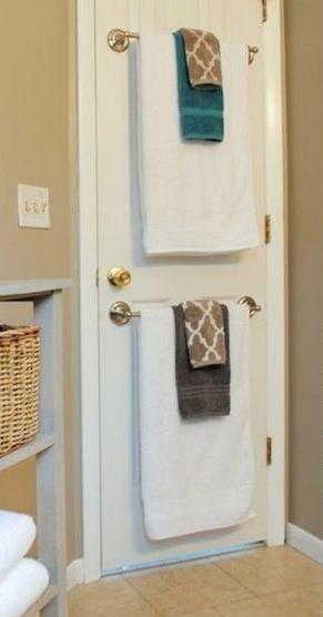 Salle de bain de bonnes id es rangement for Decoration porte salle de bain