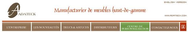 Meubles adateck haut de gamme - Ameublement en ligne ...