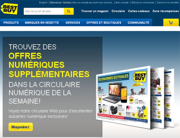Best Buy en ligne