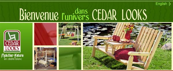 Cedar Looks Ameublement Jardin Exterieur