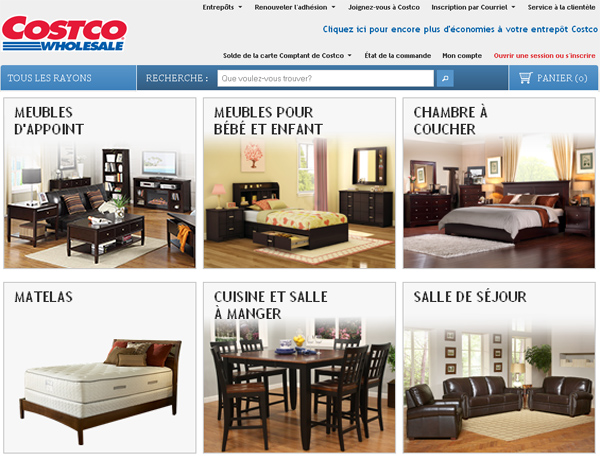 Costco for Ameublement en ligne