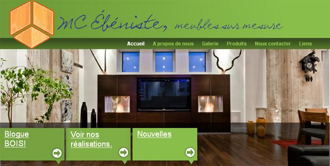MC Ébénisterie meubles sur mesure en ligne