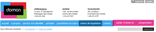 Domon centre de liquidation for Ameublement en ligne