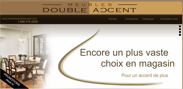 Meubles double accent drummondville for Ameublement en ligne