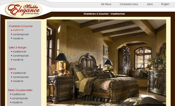 meubles elegance saint l onard. Black Bedroom Furniture Sets. Home Design Ideas