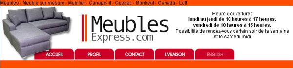 Meubles express montr al - Ameublement en ligne ...