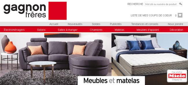 Gagnon fr res for Meuble en ligne quebec