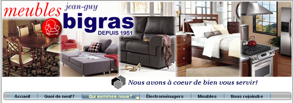 Meubles jean guy bigras for Meuble bigras