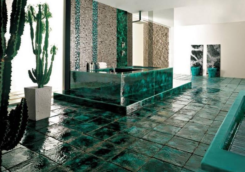 Salle de bain comment choisir le bon carrelage pour les for Carrelage salle de bain vert emeraude