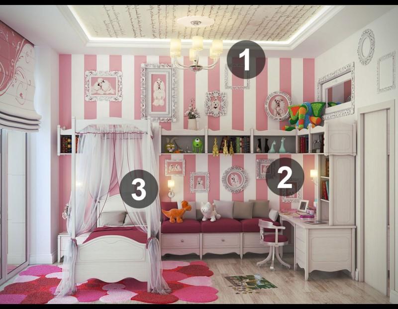 Éclairage général, fonctionnel et d'accent: une chambre d'enfant bien éclairée! SOURCE: https://www.ameublements.ca/naviguer/www.ntudebsoc.org