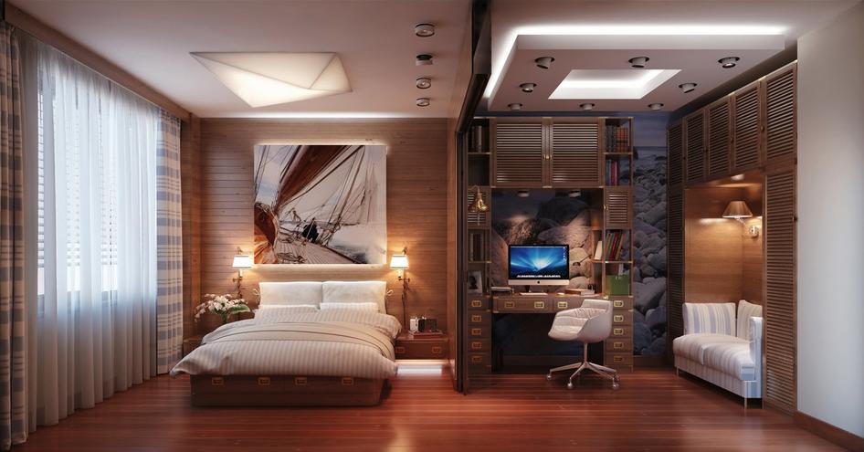 Grande chambre coucher les bureaux bancs chaises for Ameublement pour chambre