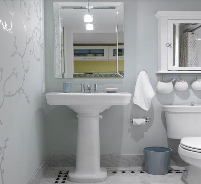 fond neutre decor petite salle de bain meubles