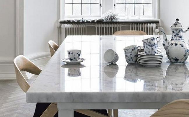 table de salle a manger en marbre stunning belair laque gris marbr brillant ensemble sejour. Black Bedroom Furniture Sets. Home Design Ideas