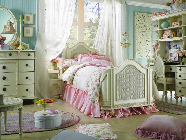 chambre fille style romantique photos de conception de